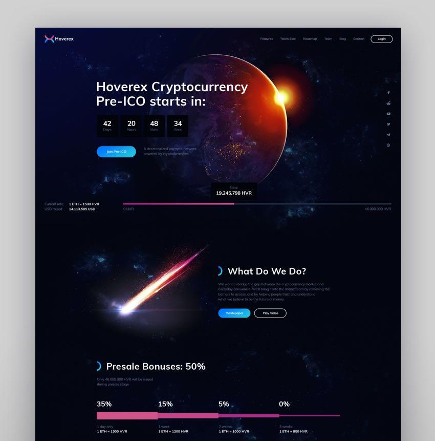 RexCoin - A Multi-Purpose Cryptocurrency  Coin ICO WordPress Theme