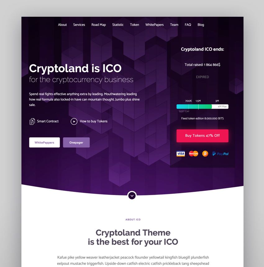 best wordpress theme for cryptocurrency blog