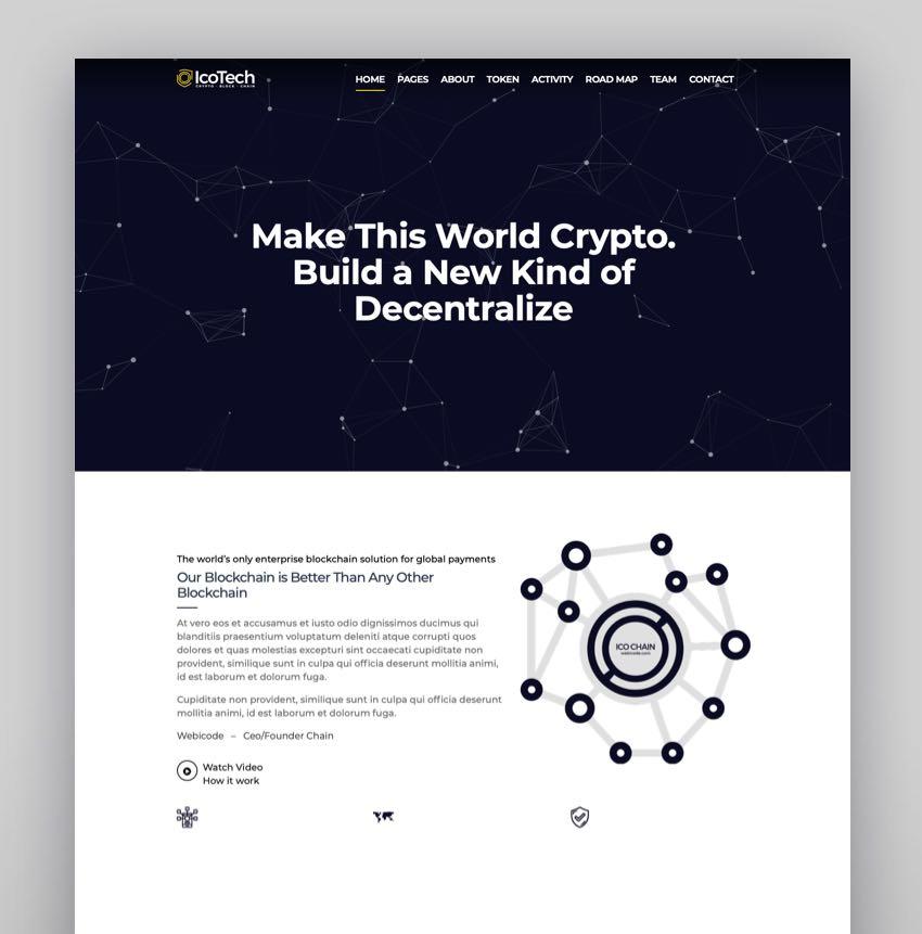 IcoTech - Crypto BlockChain WordPress Theme