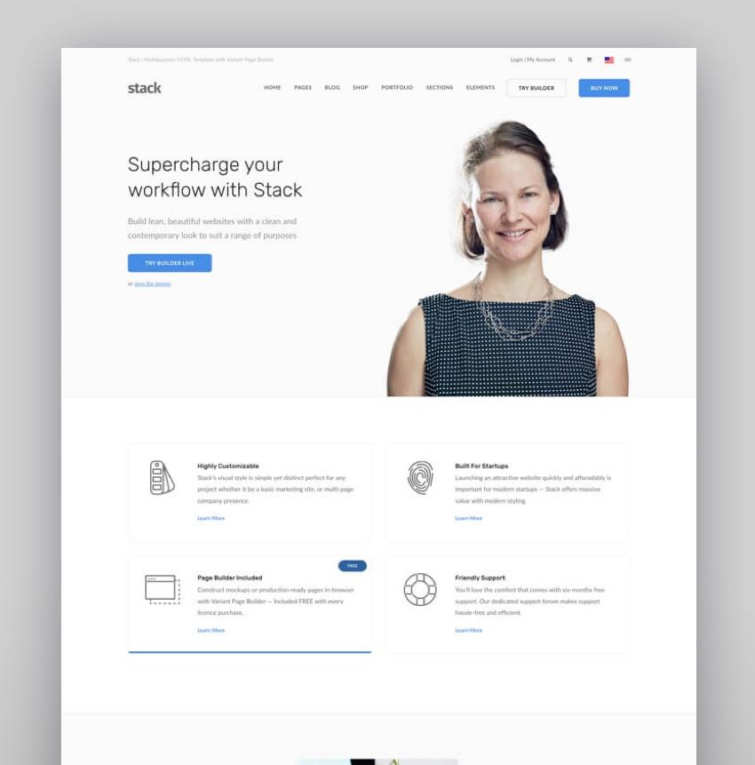 Stack - Multi-Purpose WordPress Theme with Variant Page Builder  Visual Composer