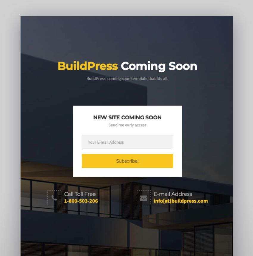 BuildPress - Multi-purpose Construction and Landscape WP Theme