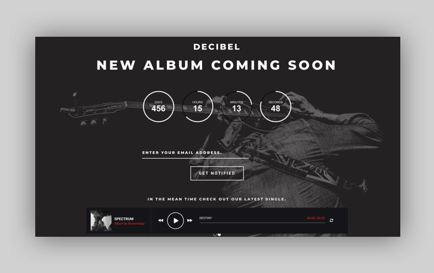 Dezibel - Music Band  Musician WordPress Theme