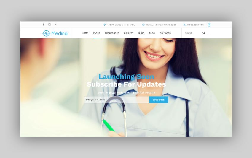 Medina - Medical WordPress Theme