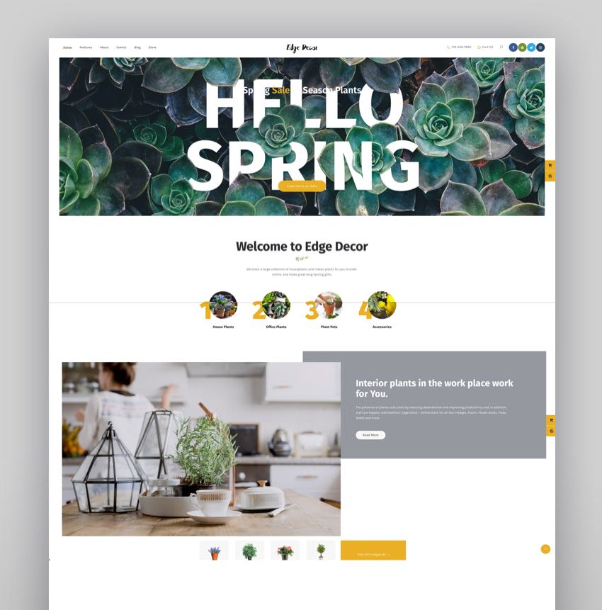 Edge Decor - A Modern Gardening  Landscaping WordPress Theme