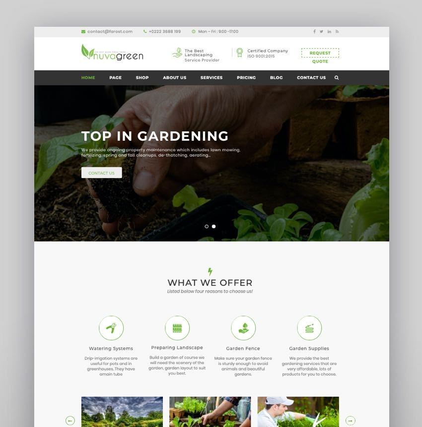 NuvaGreen - Landscape  Gardening WordPress Theme