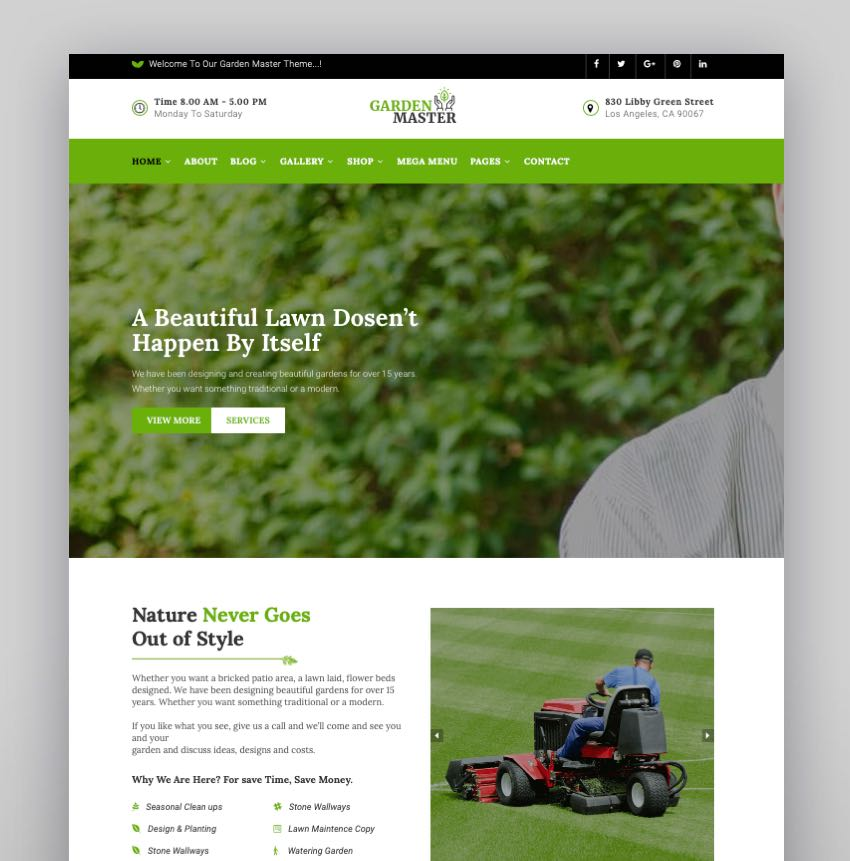 Garden Master - Gardening Lawn  Landscaping Multi-Purpose WordPress Theme