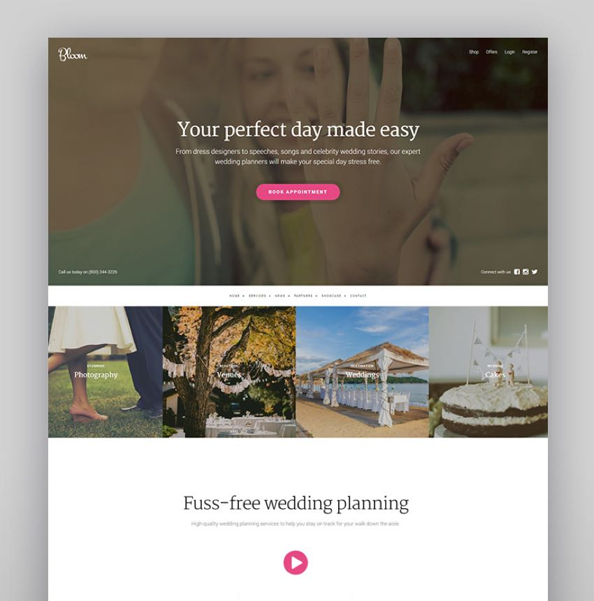 Bloom - WordPress Wedding Theme