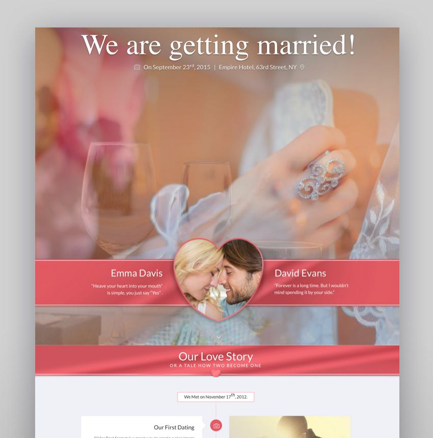 SayYes - WordPress Wedding Theme
