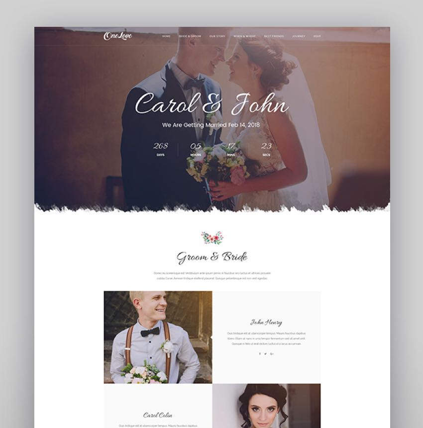 OneLove - The Elegant  Clean Multipurpose Wedding WordPress Theme