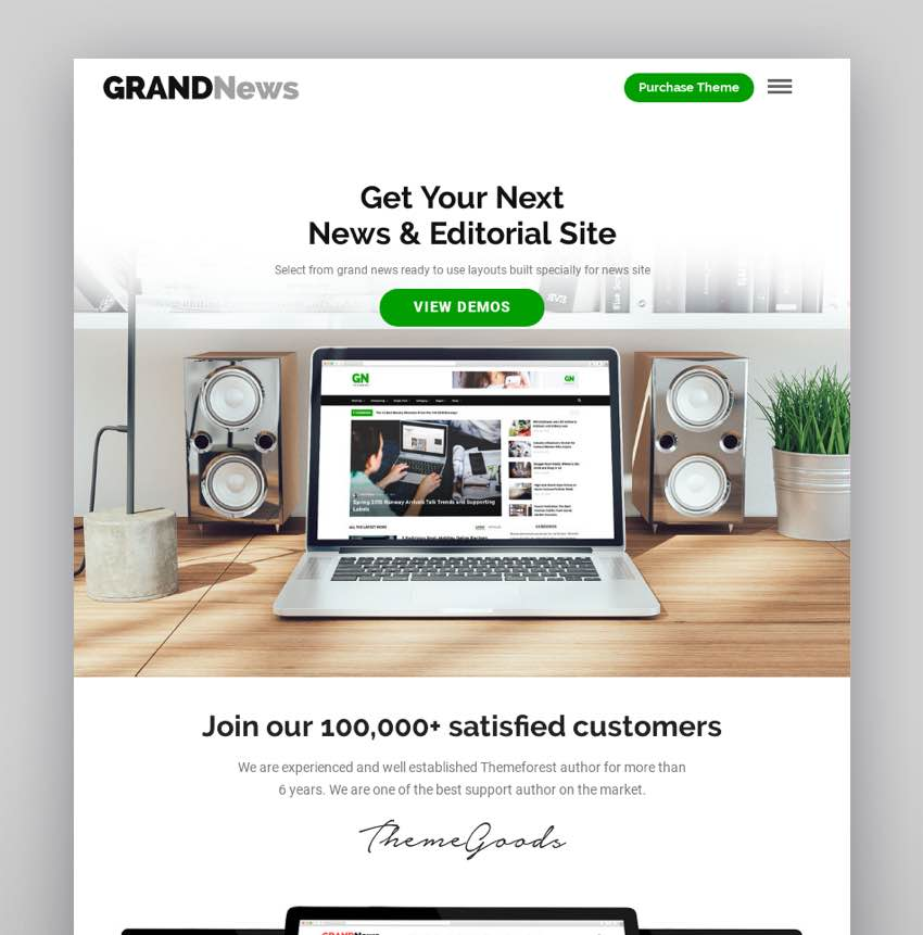 Grand News  Magazine Newspaper WordPress