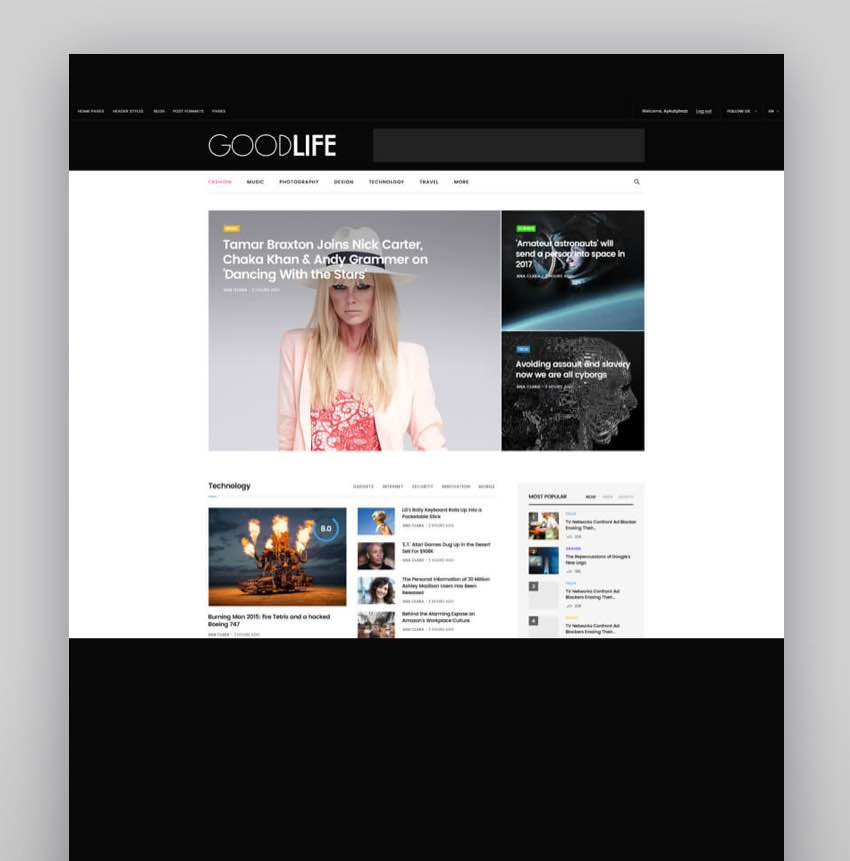 GoodLife - Magazine  Newspaper WordPress Theme