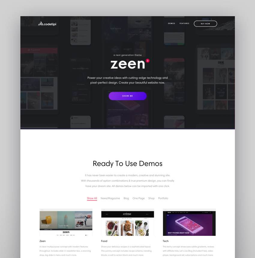 Zeen  Next Generation Magazine WordPress Theme