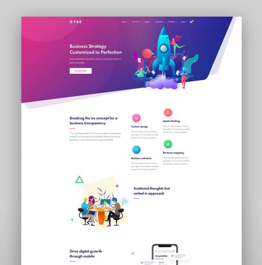 Ryse - SEO  Digital Marketing Theme