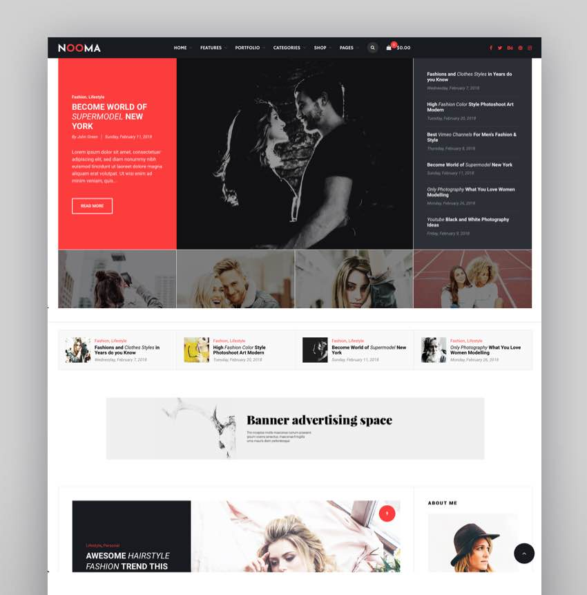 Nooma - A Responsive WordPress Blog Theme