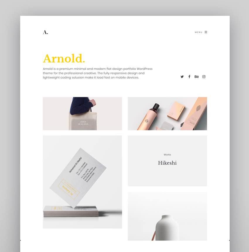 Minimalist WordPress - Arnold