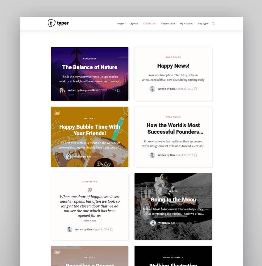 Typer - Amazing Blog and Multi Author Publishing Theme