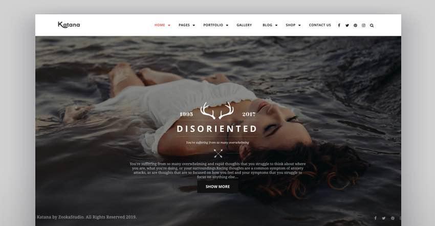 Katana - Photography  Portfolio WordPress Theme
