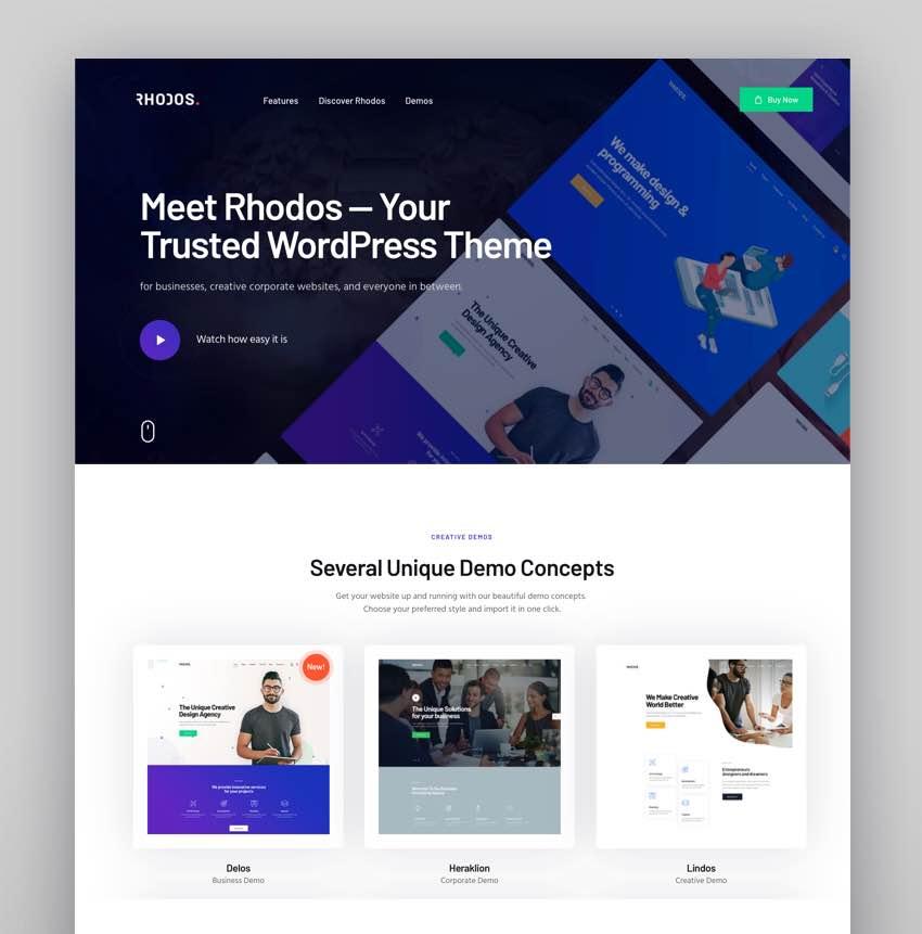 Rhodos - A Colossal Multipurpose WordPress Theme for Business  Portfolio