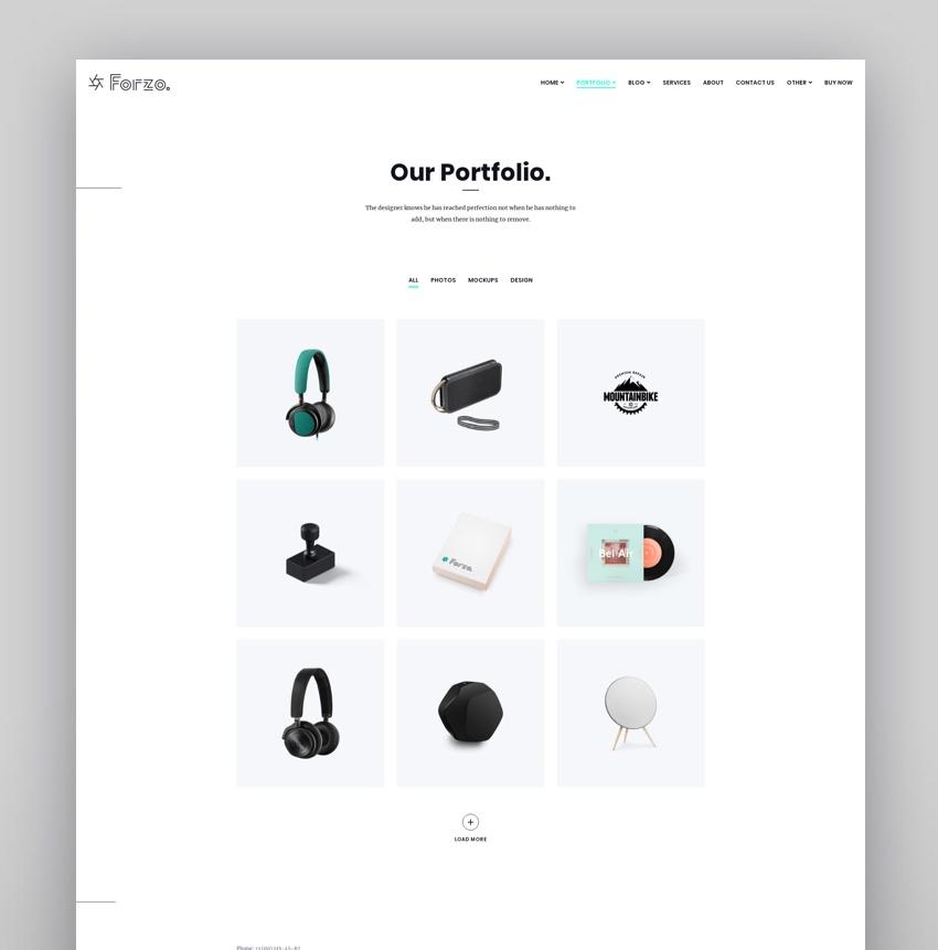 Agency Portfolio WordPress  Forzo