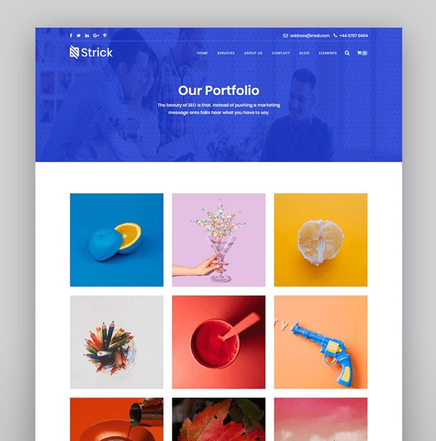 Strick - Creative Agency WordPress Theme