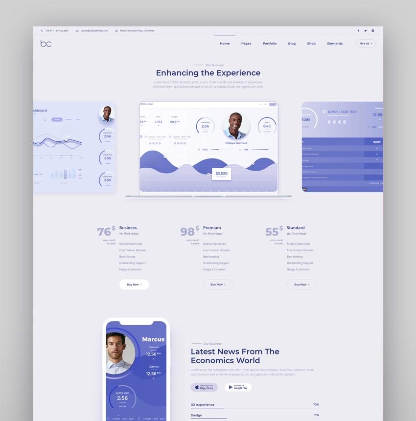 Bizkar - Creative Agency WordPress Theme