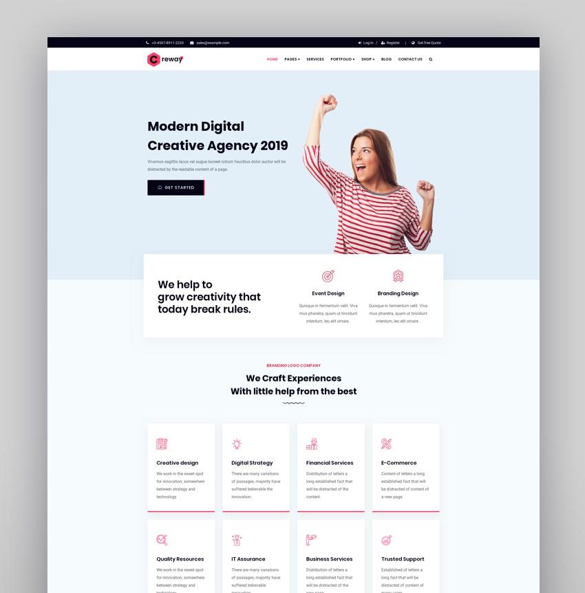Creway - Creative Agency  Corporate WordPress Theme
