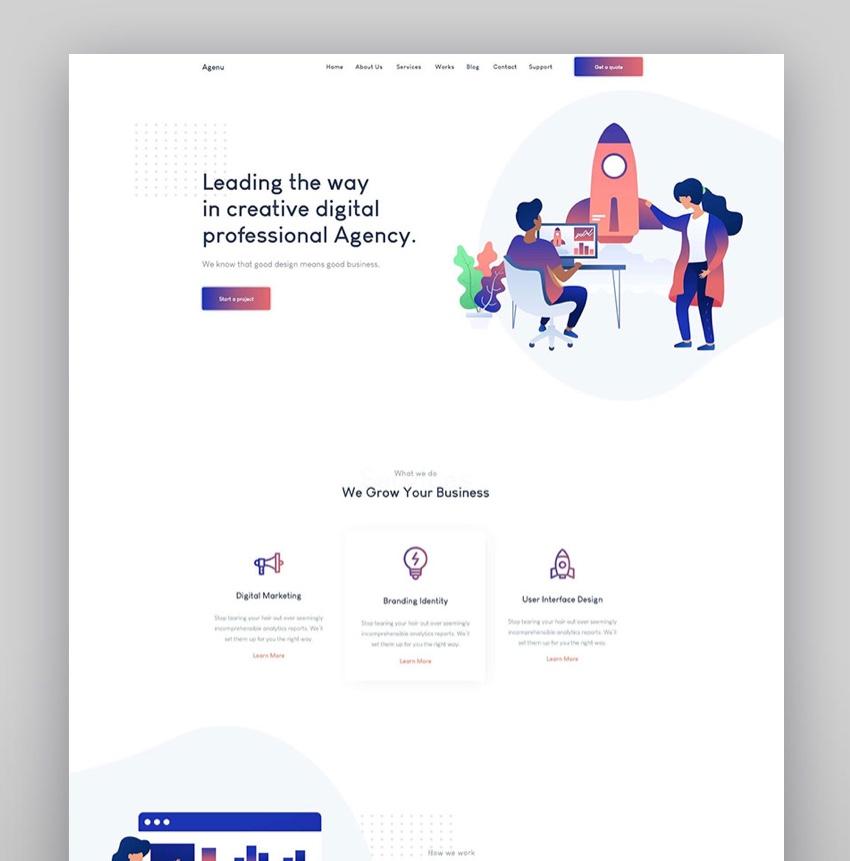 Negoci - Digital Marketing WordPress Theme