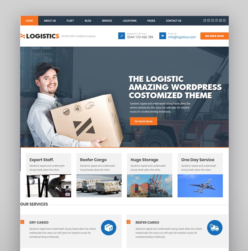 Logistics  Transportation Warehousing WP Theme