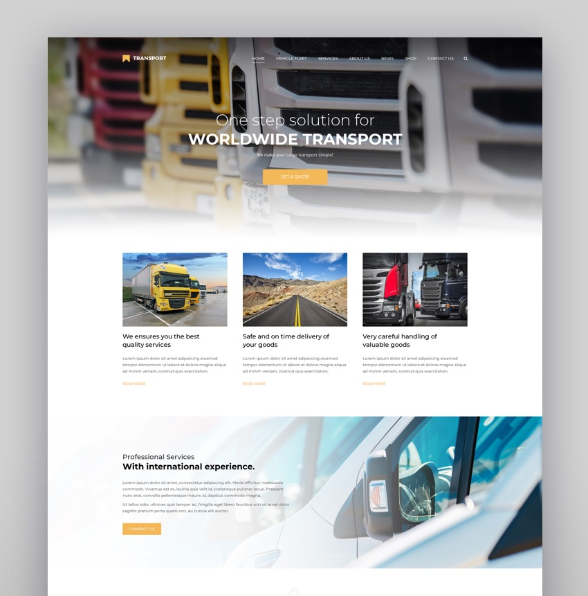 Transport - WP Transportation  Logistic Theme