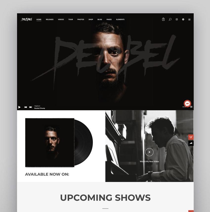 Decibel - Professional Music WordPress Theme