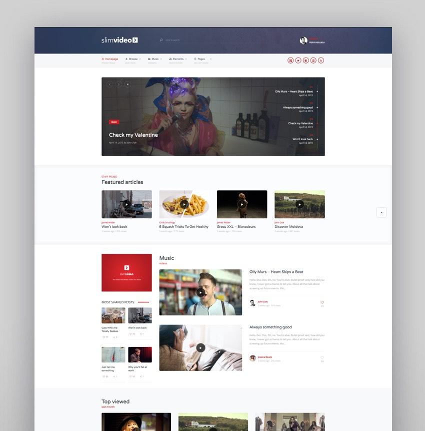 Slimvideo - Video WordPress Community Theme