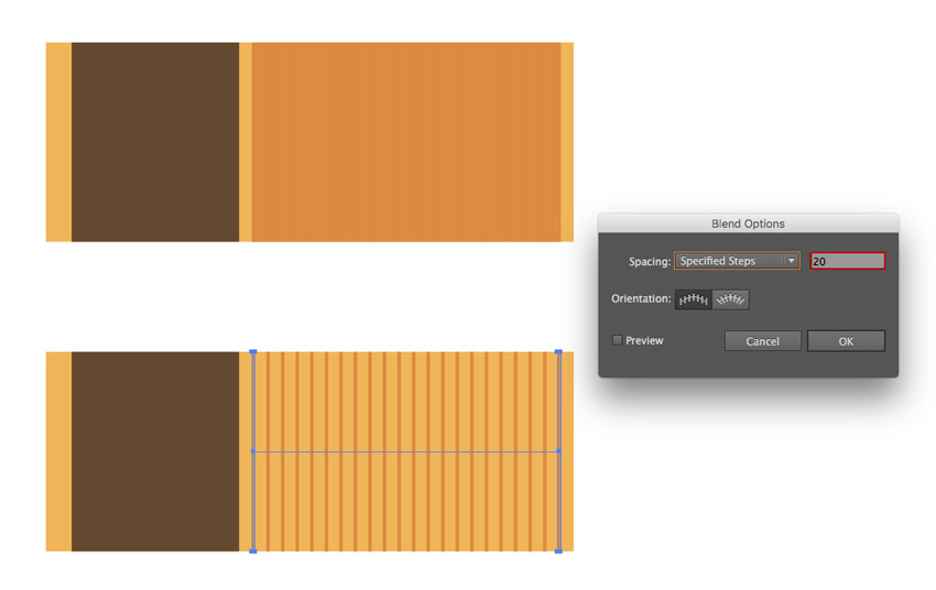 Creating wooden texture with the help of the Blend Options
