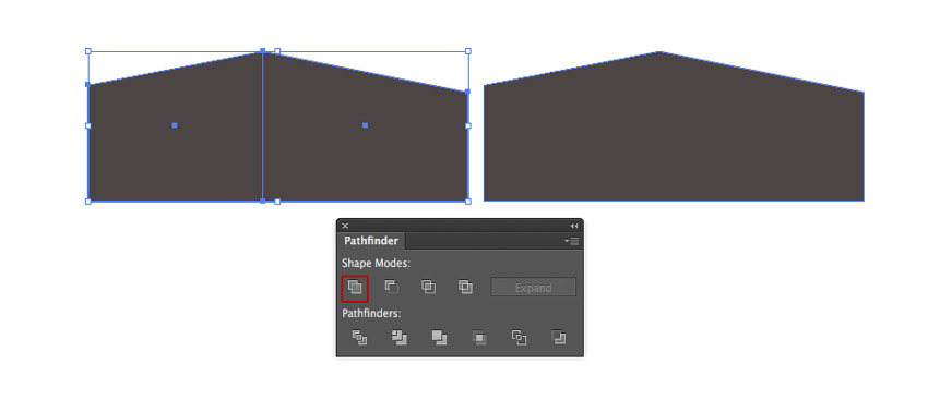 Merging the rectangles with the help of Pathfinder panel