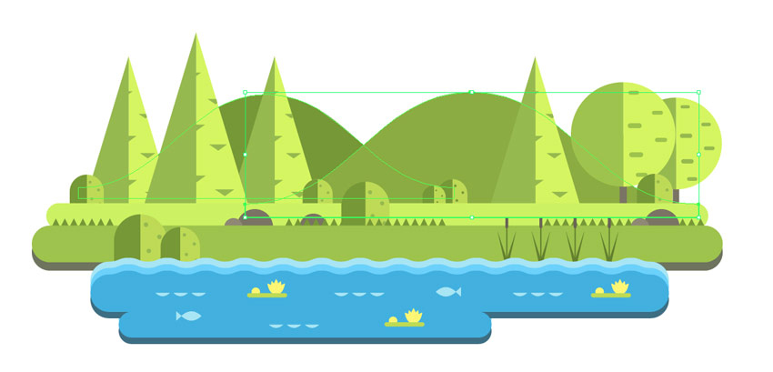 How to Create a Mountain Landscape in Flat Style in Adobe Illustrator