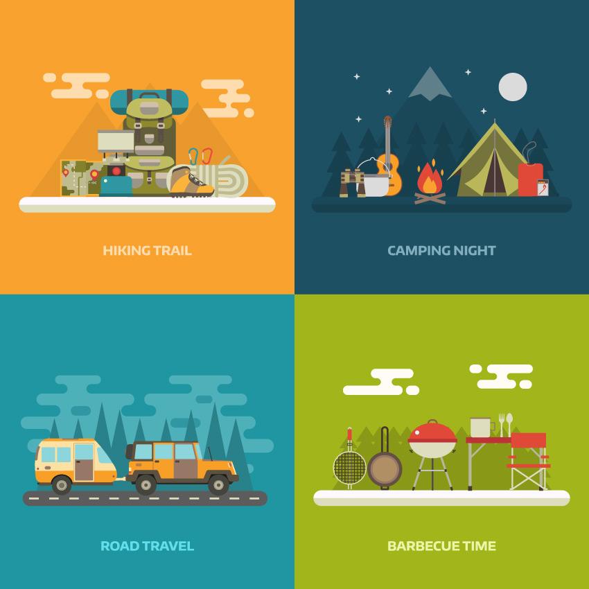 Summer Activity Concept Backgrounds