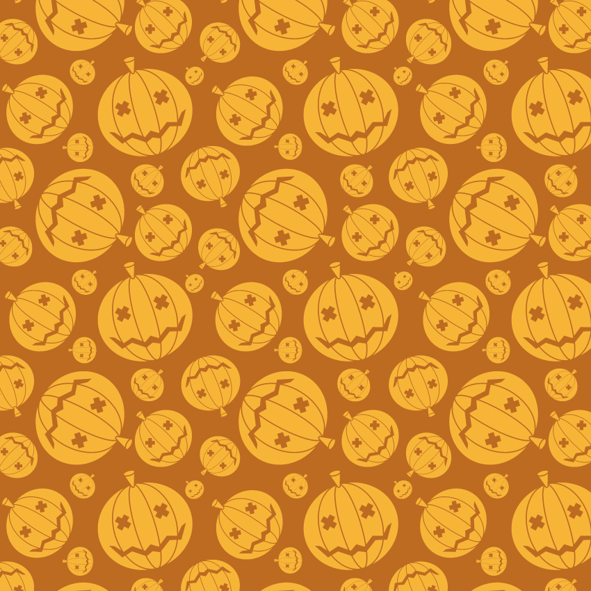 how to create a seamless halloween pumpkin pattern in adobe illustrator