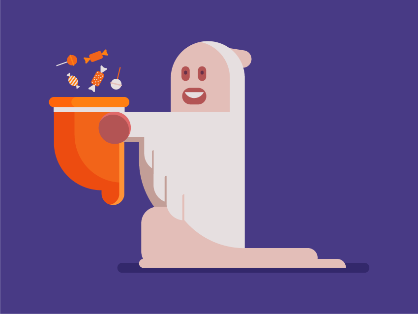 How to Create a Halloween Character in a Ghost Costume in Adobe Illustrator