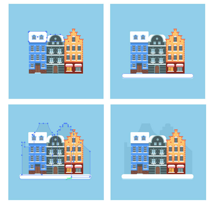How to Create a Winter City Scene in Adobe Illustrator