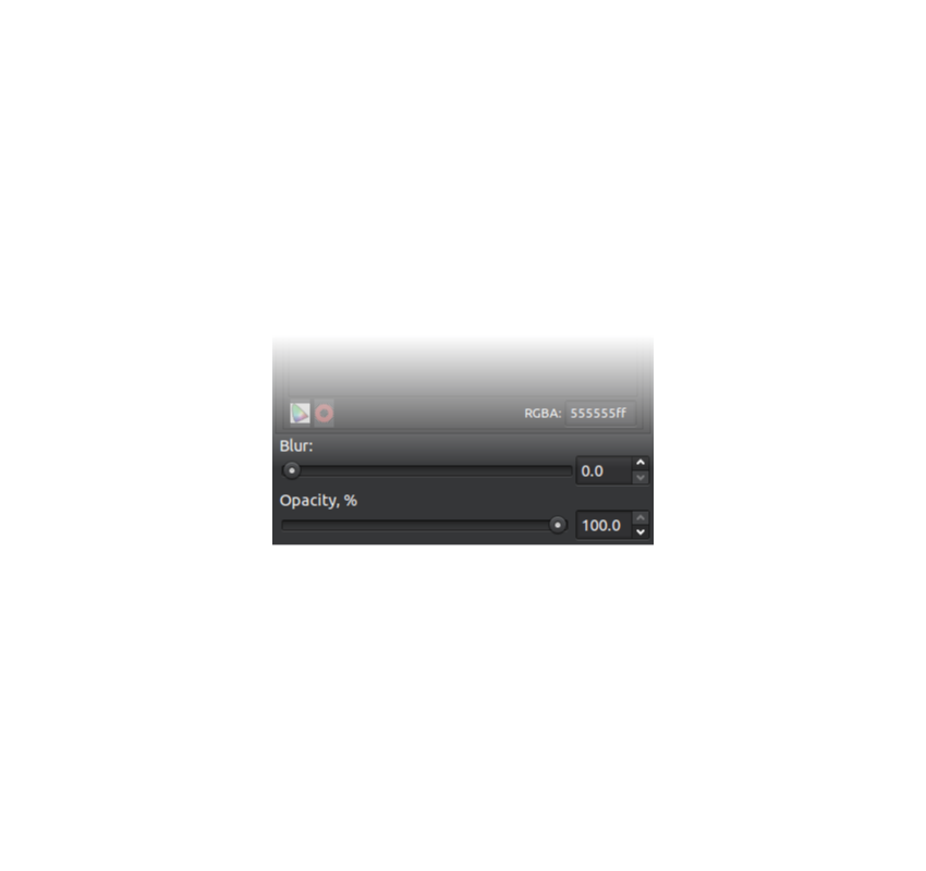 Inkscape opacity slider