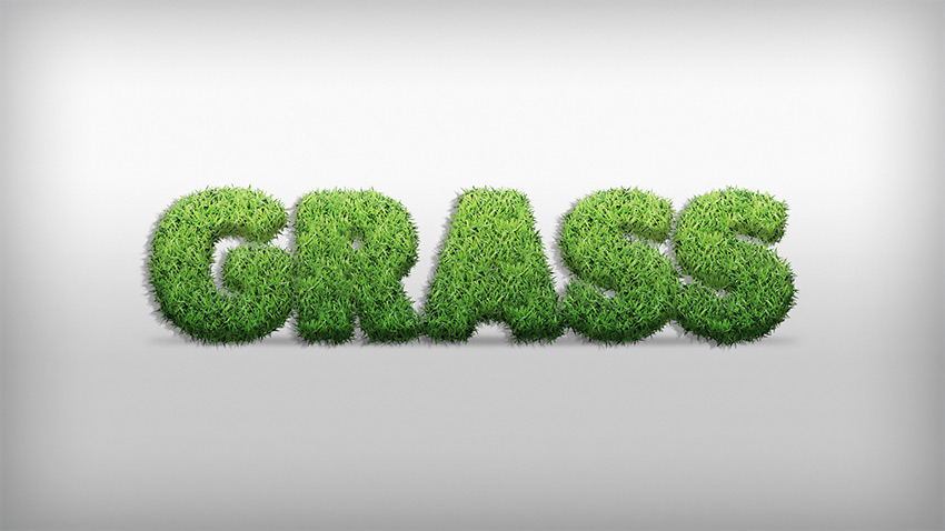 How to Create a Grass Action Text Effect in Adobe Photoshop