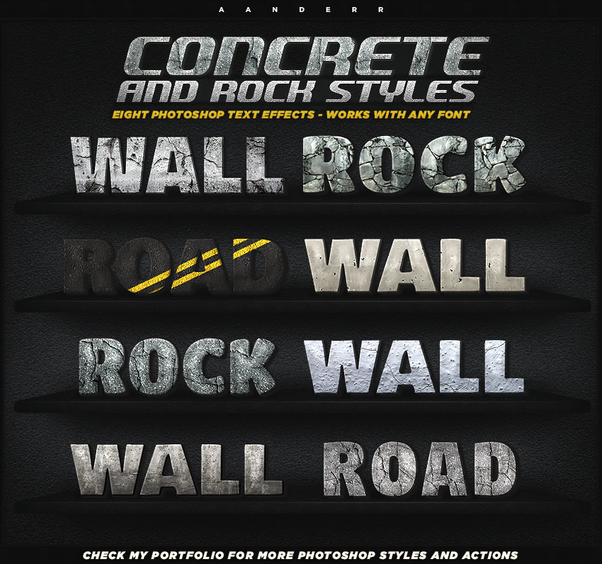 Concrete and rock styles promotion image