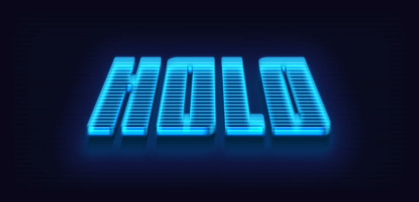 How to Make a 3D Hologram Text Effect Photoshop Action