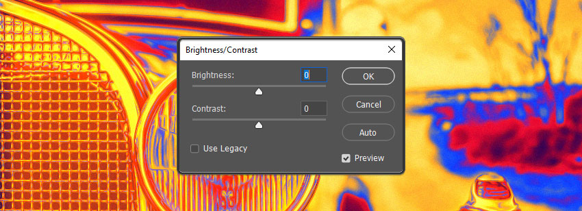 Brightness and Contrast values