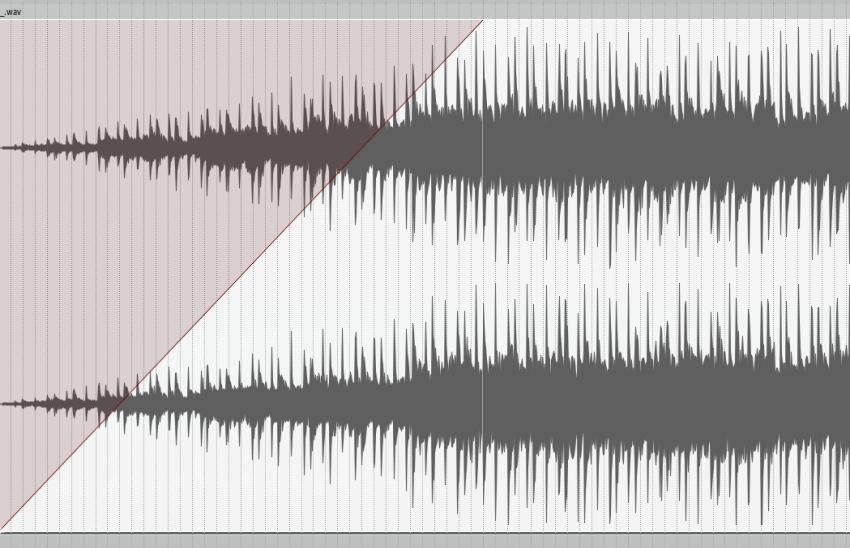 Linear fade curve