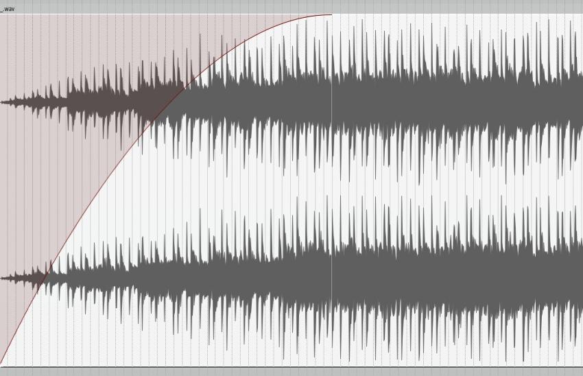 Logarithmic fade curve