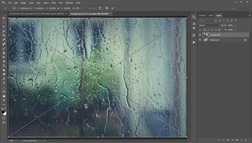 How to Create a Wet Glass Action in Adobe Photoshop