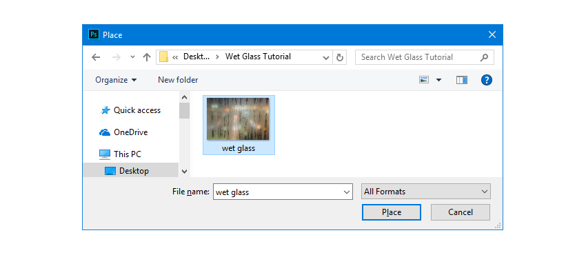 Browse and select Wet Glass JPG Image