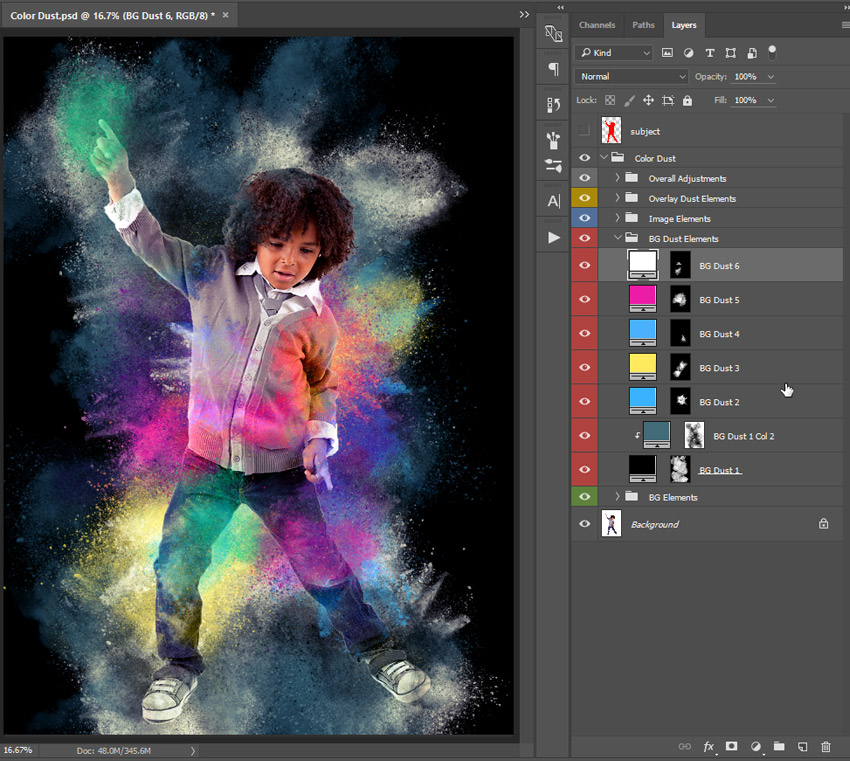 Modify background dust element color
