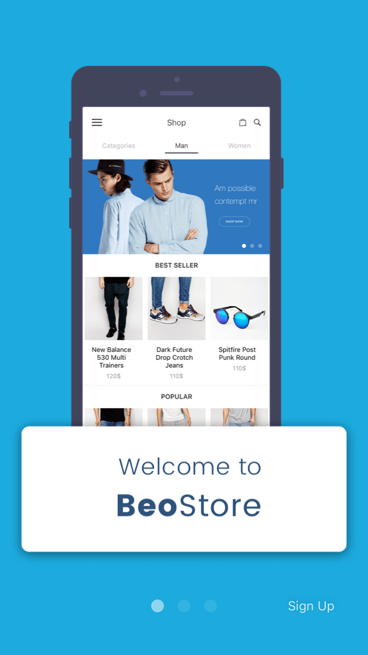 BeoStore Complete Mobile UI Template