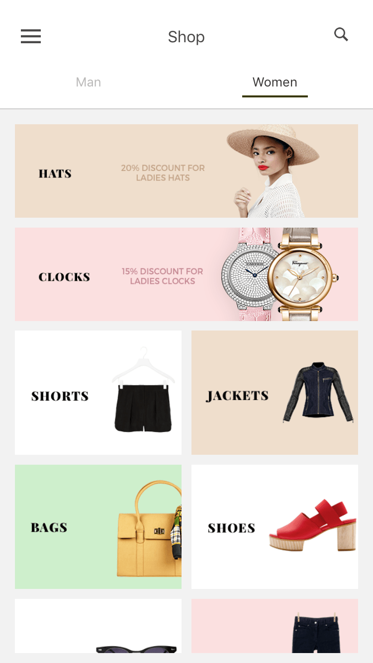 BeoStore App Template e-commerce app example